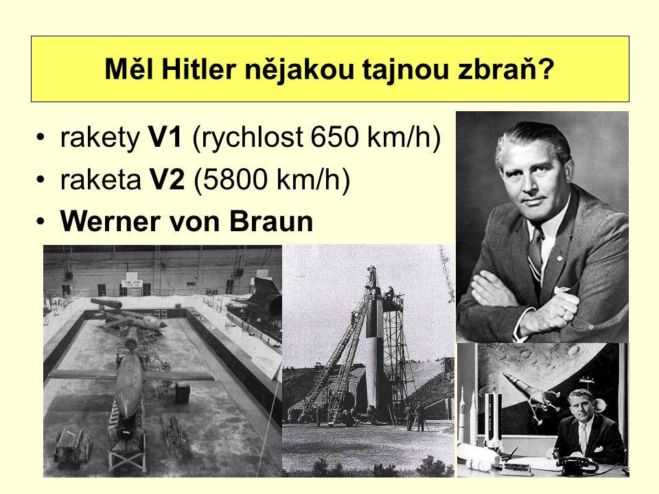 Měl Hitler nějakou tajnou zbraň