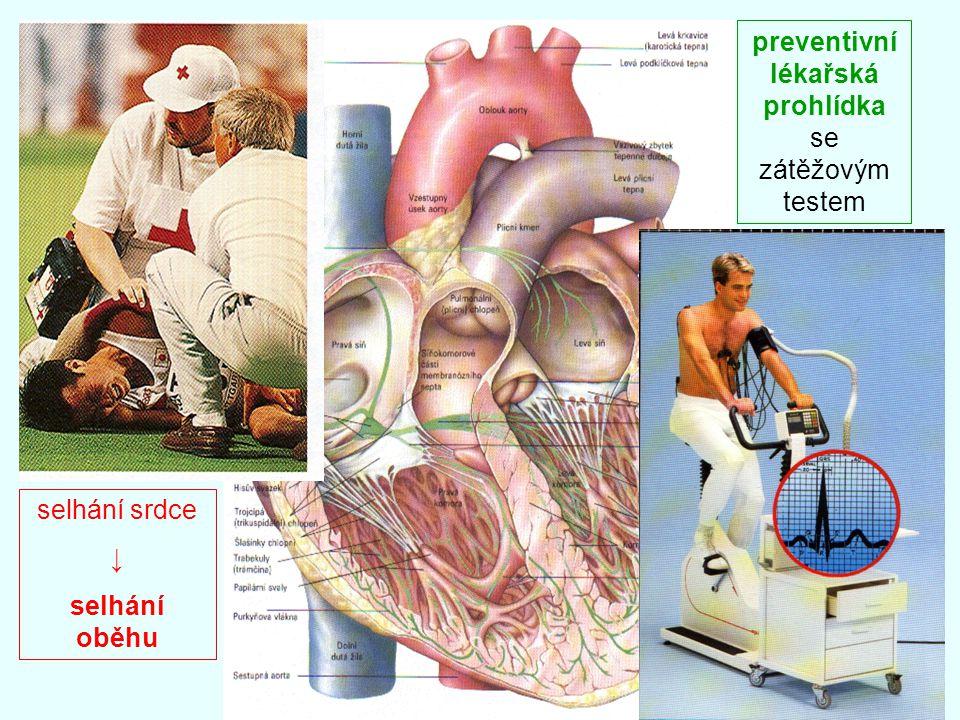 preventivní lékařská prohlídka se zátěžovým testem