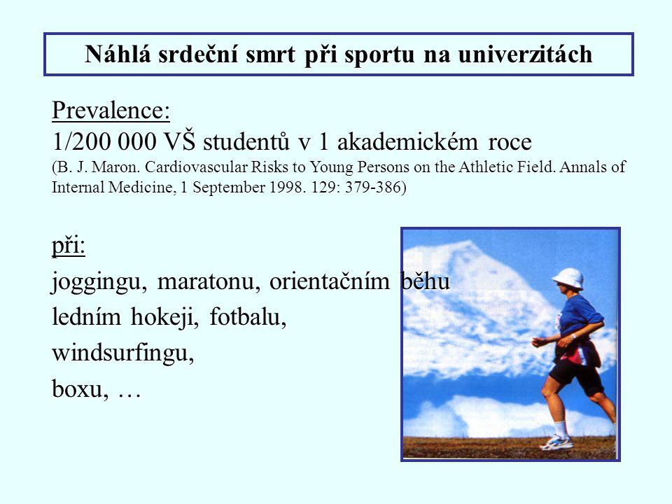 Náhlá srdeční smrt při sportu na univerzitách