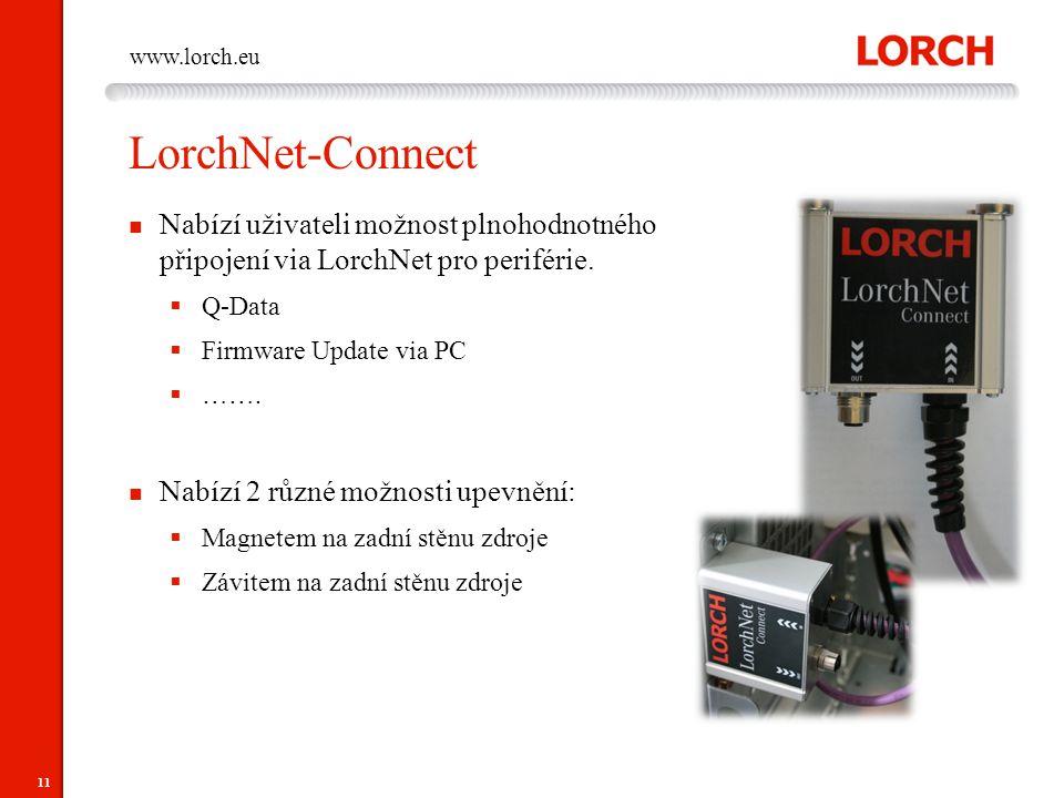LorchNet-Connect Nabízí uživateli možnost plnohodnotného připojení via LorchNet pro periférie. Q-Data.