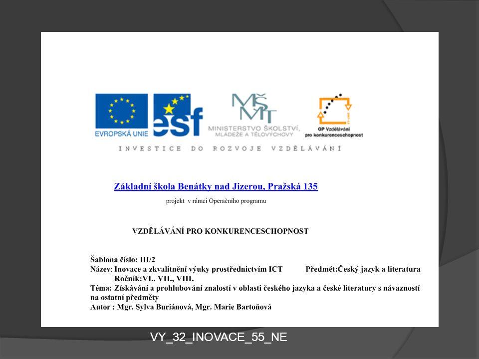 VV VY_32_INOVACE_55_NE