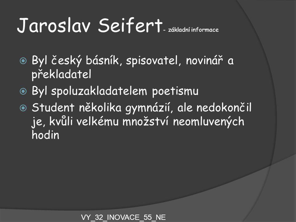 Jaroslav Seifert- základní informace