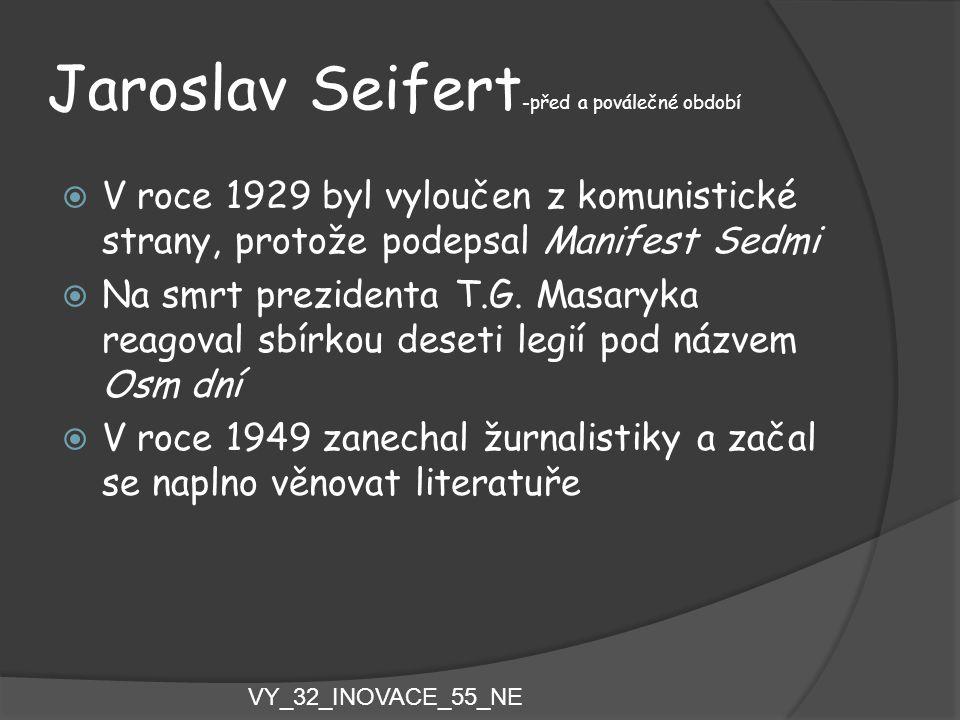 Jaroslav Seifert-před a poválečné období
