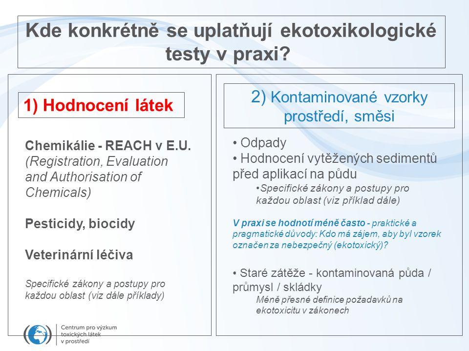 Kde konkrétně se uplatňují ekotoxikologické testy v praxi