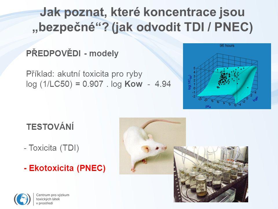 """Jak poznat, které koncentrace jsou """"bezpečné (jak odvodit TDI / PNEC)"""