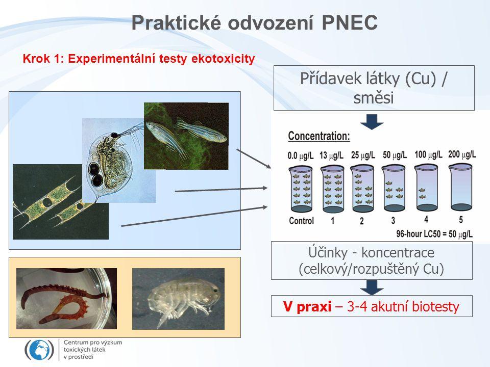 Praktické odvození PNEC