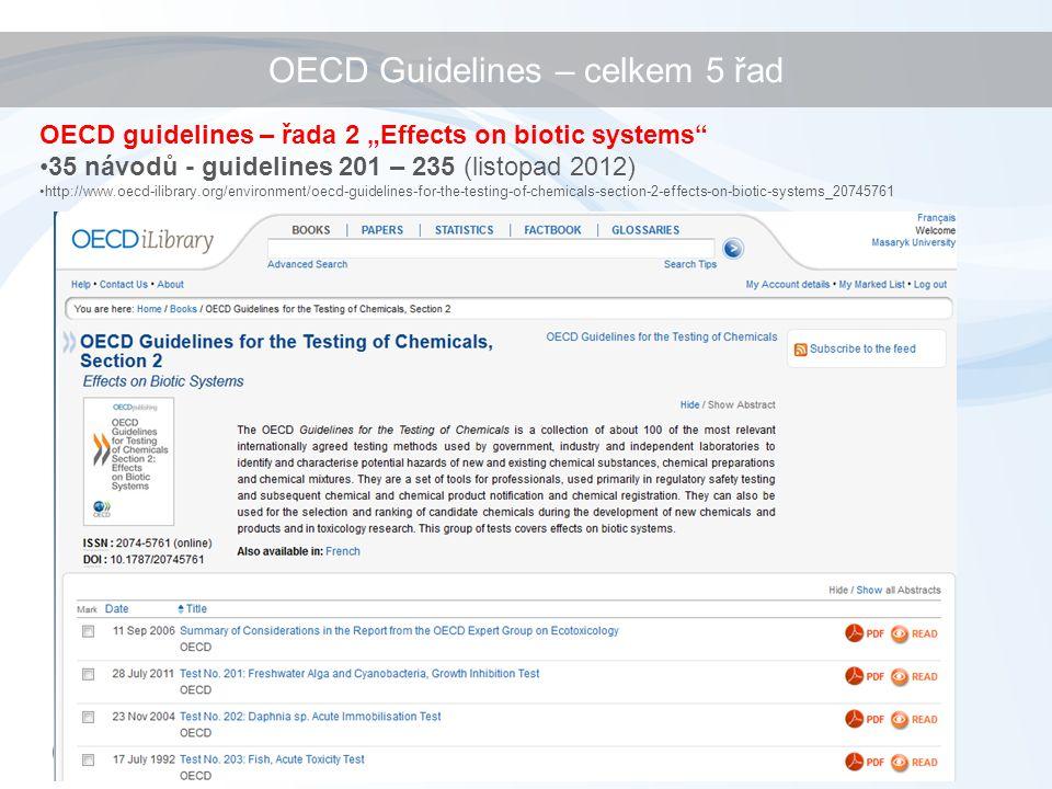OECD Guidelines – celkem 5 řad