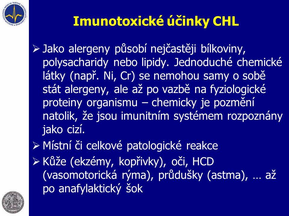 Imunotoxické účinky CHL