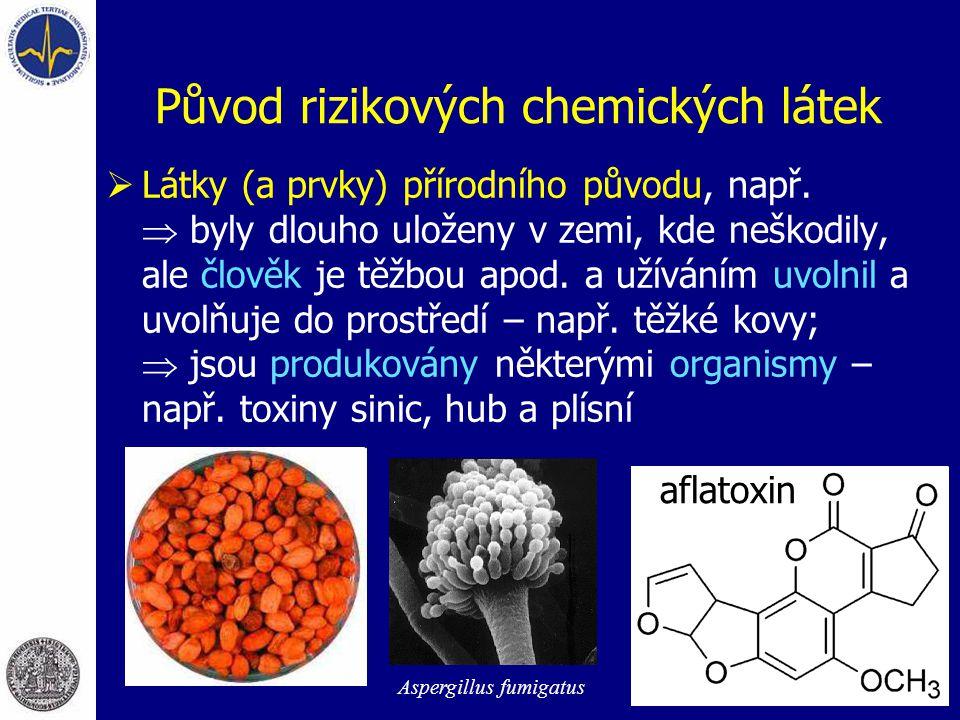 Původ rizikových chemických látek