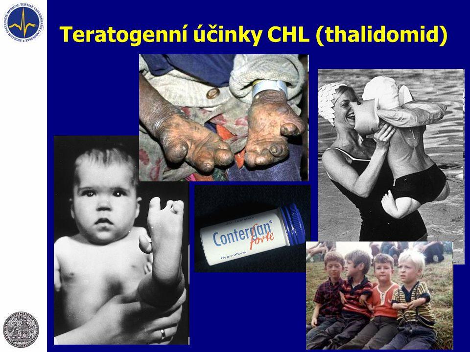 Teratogenní účinky CHL (thalidomid)