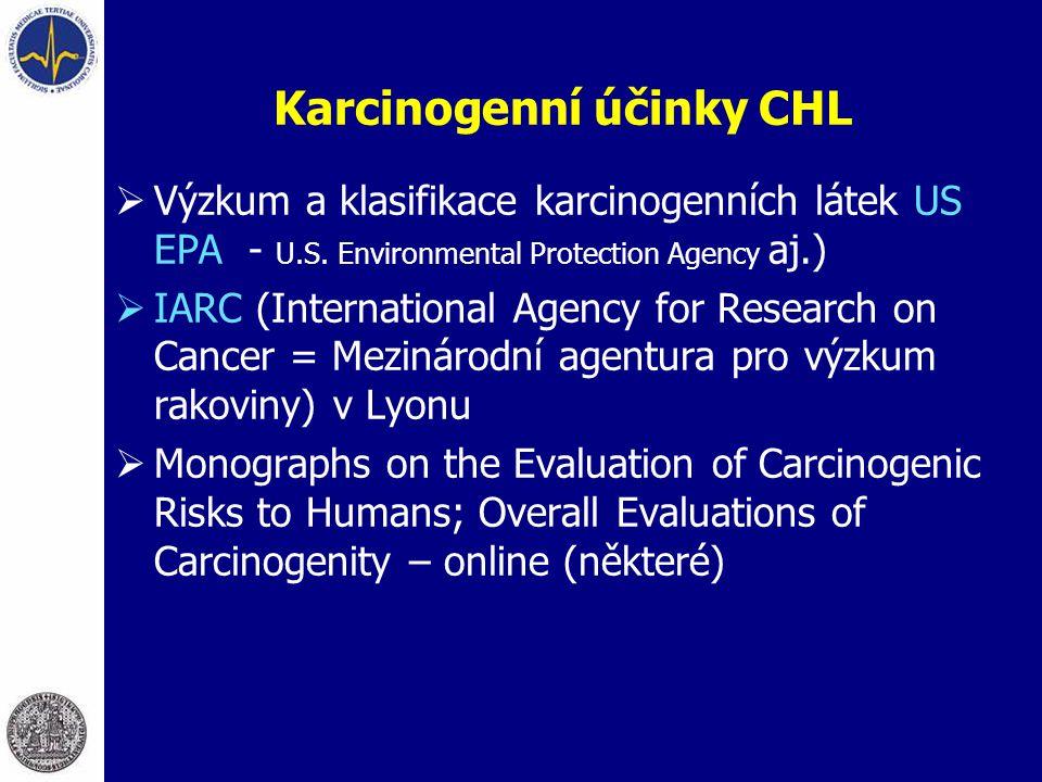 Karcinogenní účinky CHL