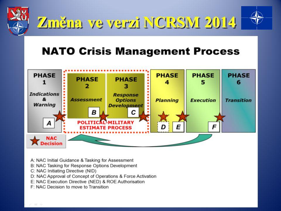 Změna ve verzi NCRSM 2014
