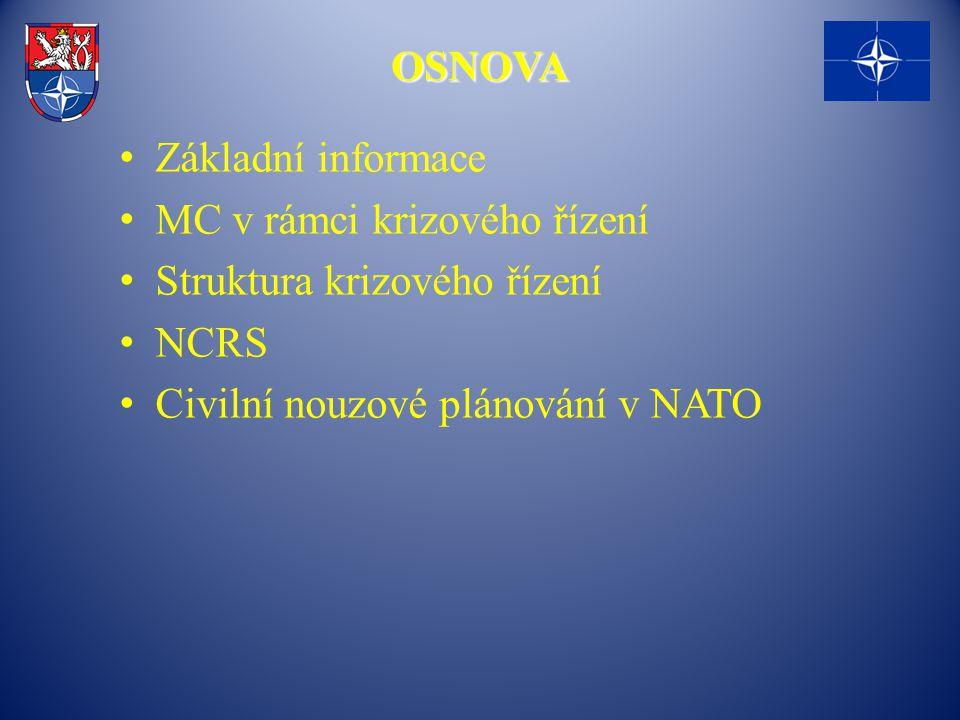 OSNOVA Základní informace. MC v rámci krizového řízení.