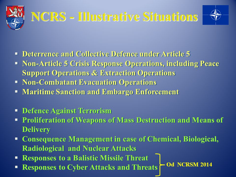 NCRS - Illustrative Situations