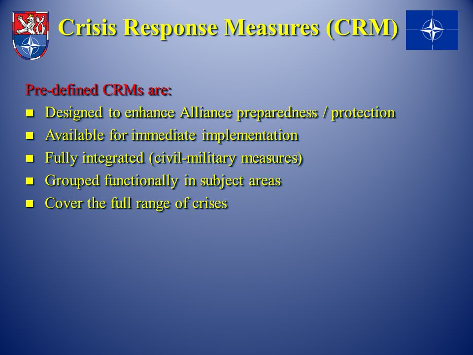 Crisis Response Measures (CRM)