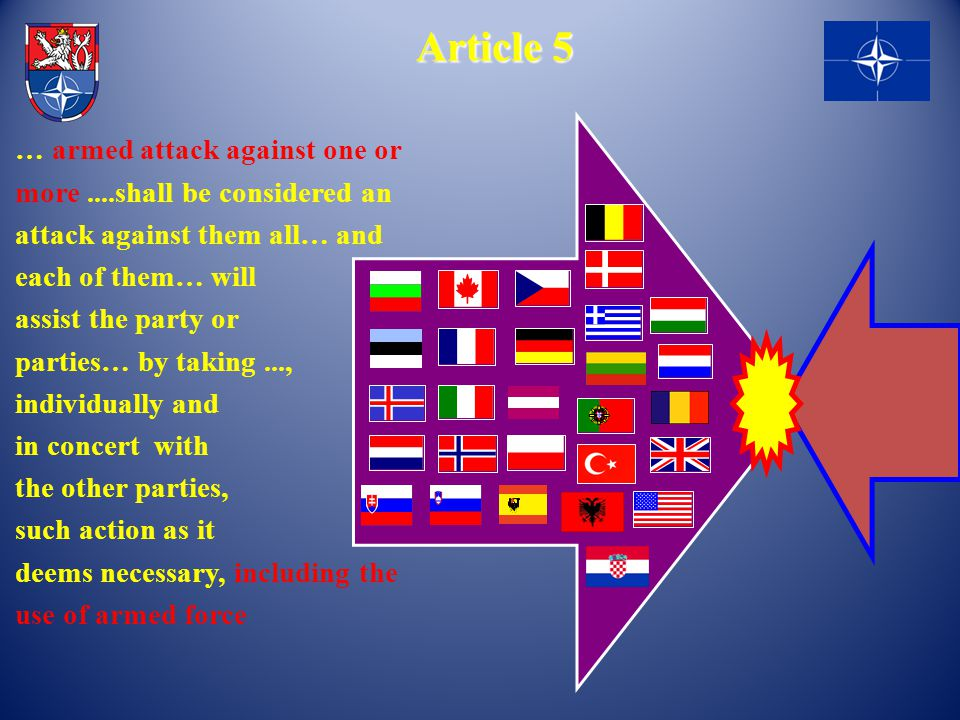 Article 5 … armed attack against one or