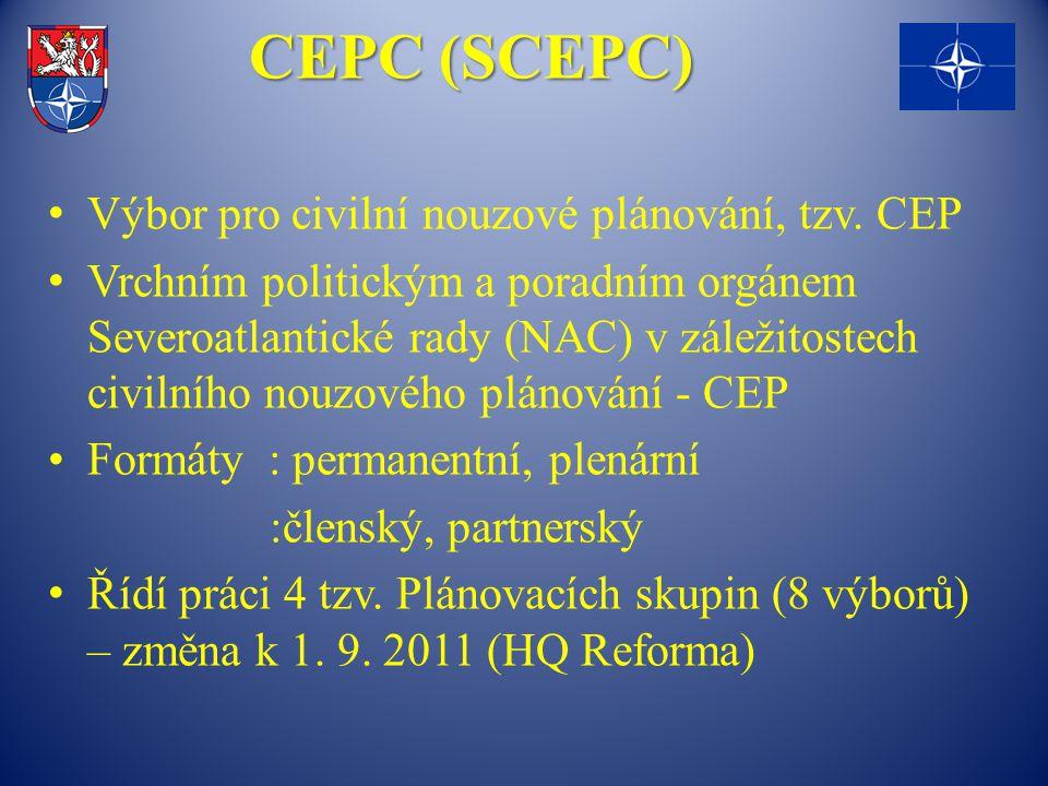 CEPC (SCEPC) Výbor pro civilní nouzové plánování, tzv. CEP