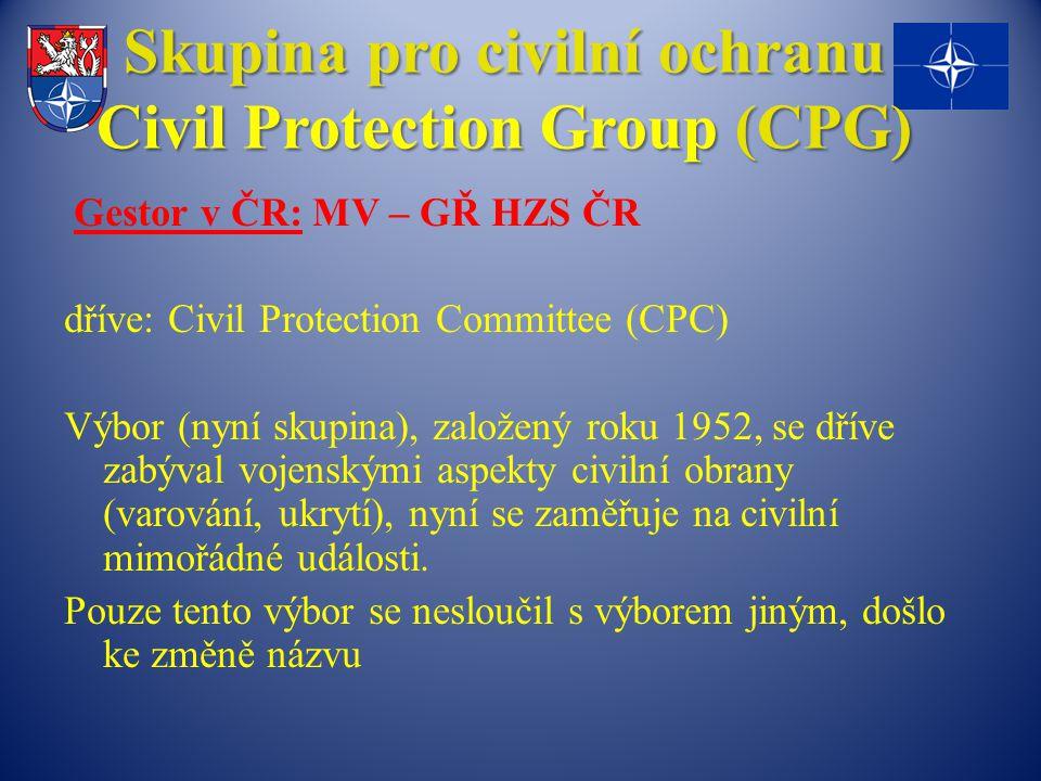 Skupina pro civilní ochranu Civil Protection Group (CPG)
