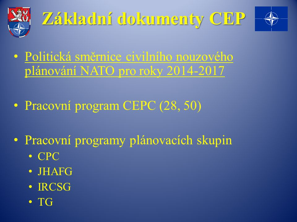 Základní dokumenty CEP