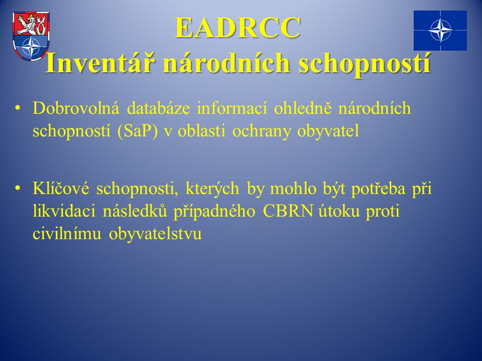 EADRCC Inventář národních schopností