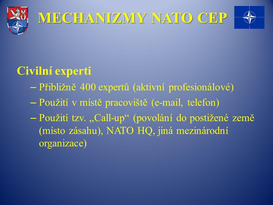 MECHANIZMY NATO CEP Civilní experti