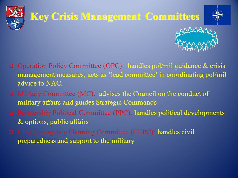 Key Crisis Management Committees