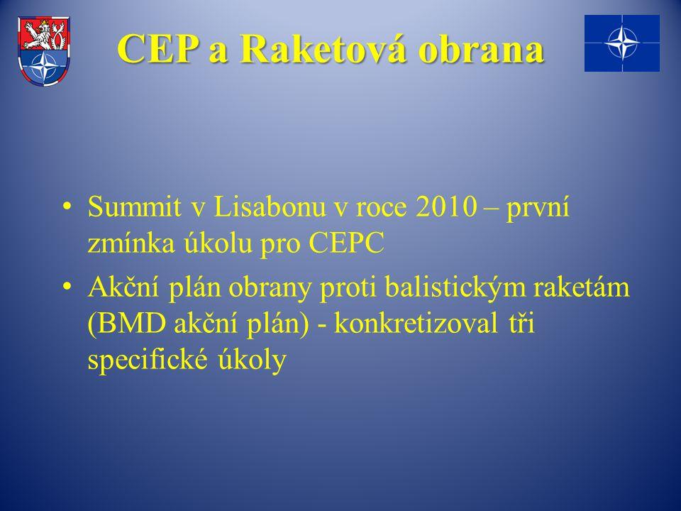 CEP a Raketová obrana Summit v Lisabonu v roce 2010 – první zmínka úkolu pro CEPC.