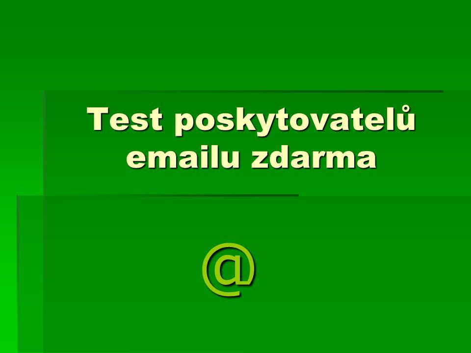 Test poskytovatelů emailu zdarma