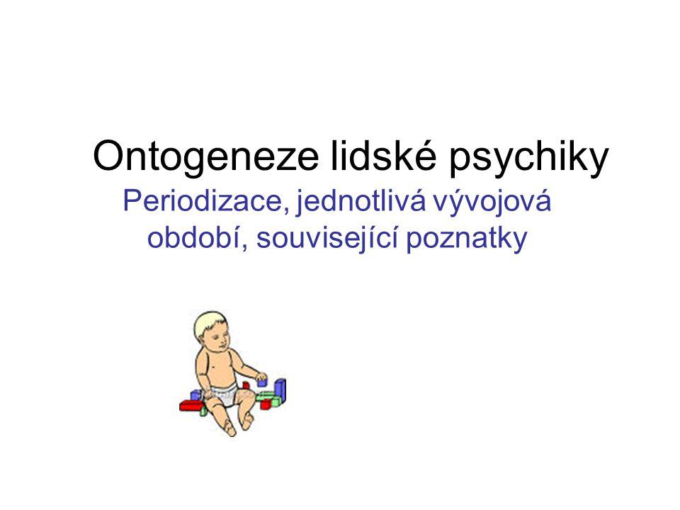 Ontogeneze lidské psychiky