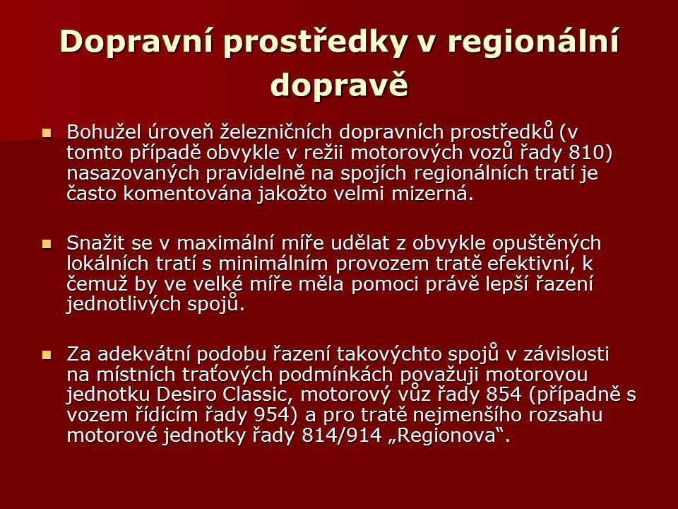 Dopravní prostředky v regionální dopravě