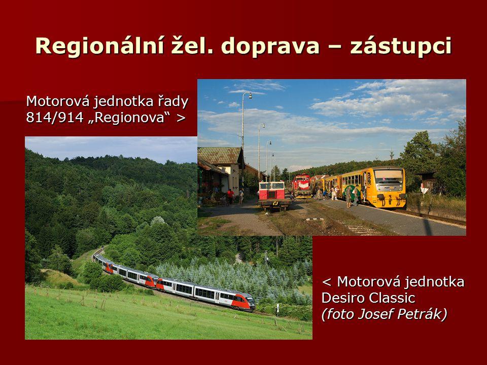 Regionální žel. doprava – zástupci