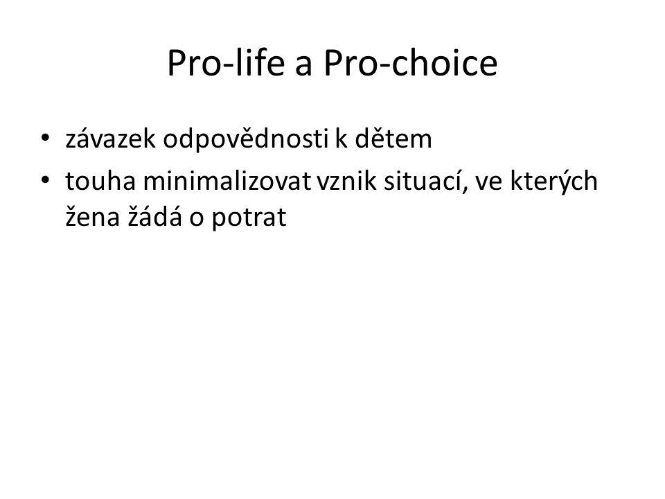 Pro-life a Pro-choice závazek odpovědnosti k dětem