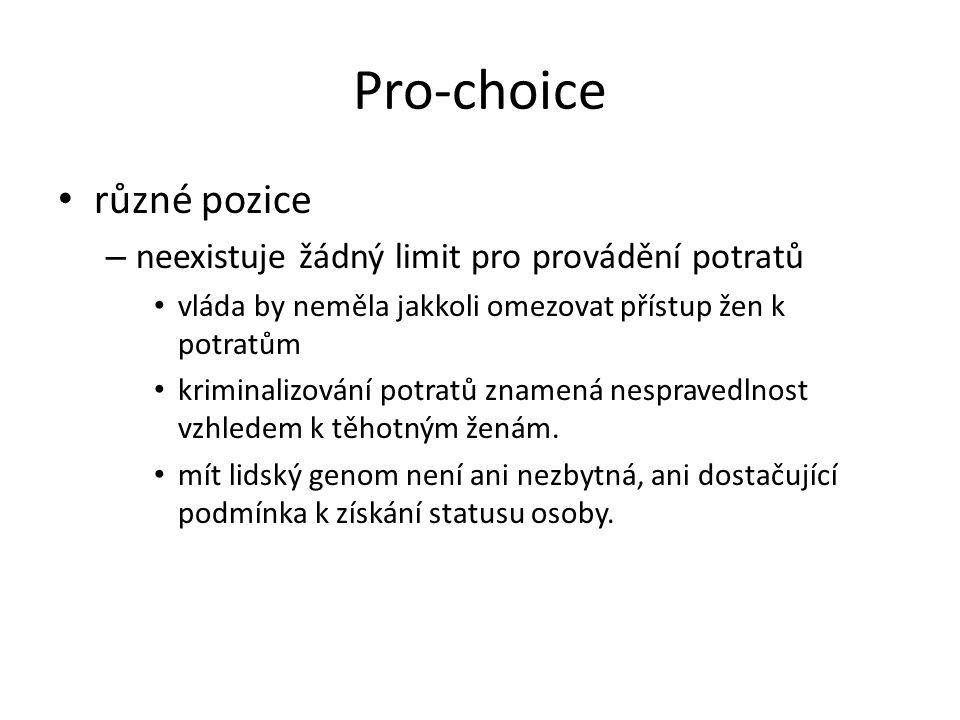 Pro-choice různé pozice neexistuje žádný limit pro provádění potratů