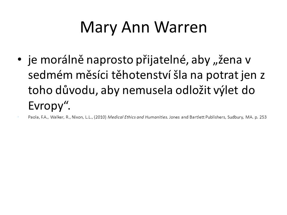 Mary Ann Warren