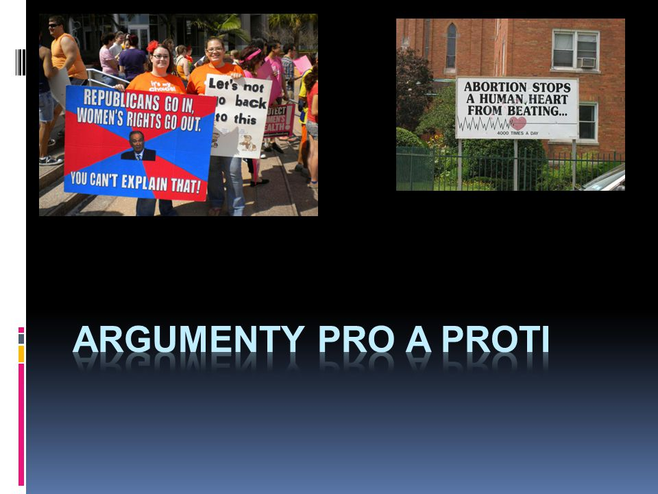 argumenty pro a proti
