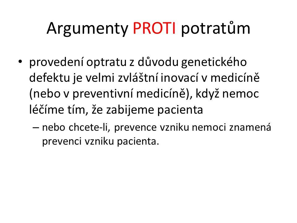 Argumenty PROTI potratům