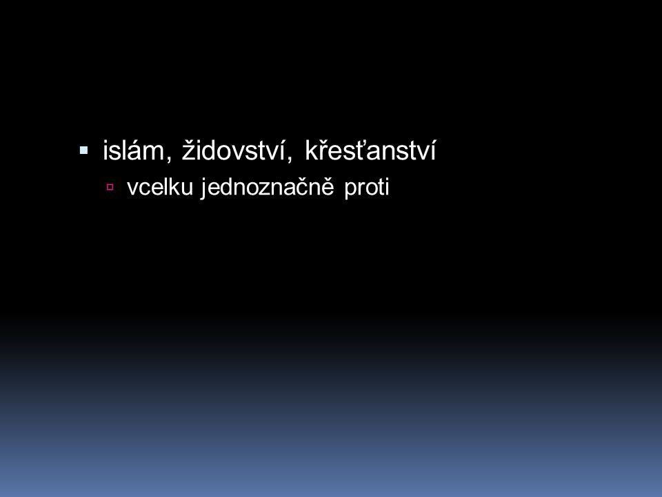 islám, židovství, křesťanství