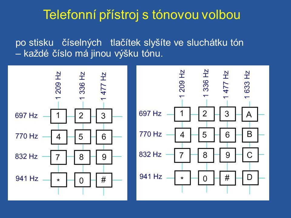 Telefonní přístroj s tónovou volbou