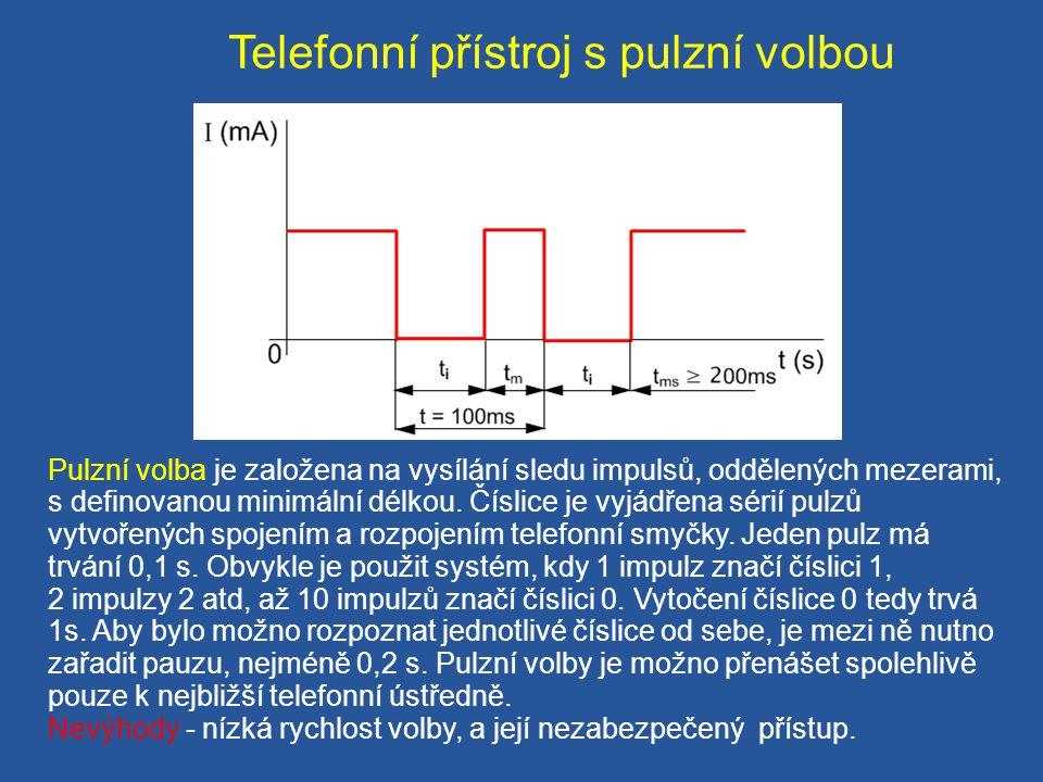 Telefonní přístroj s pulzní volbou