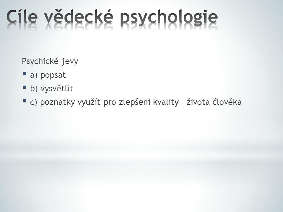 Cíle vědecké psychologie