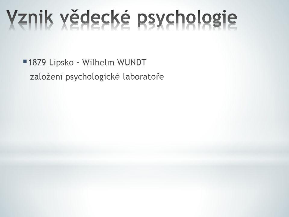 Vznik vědecké psychologie