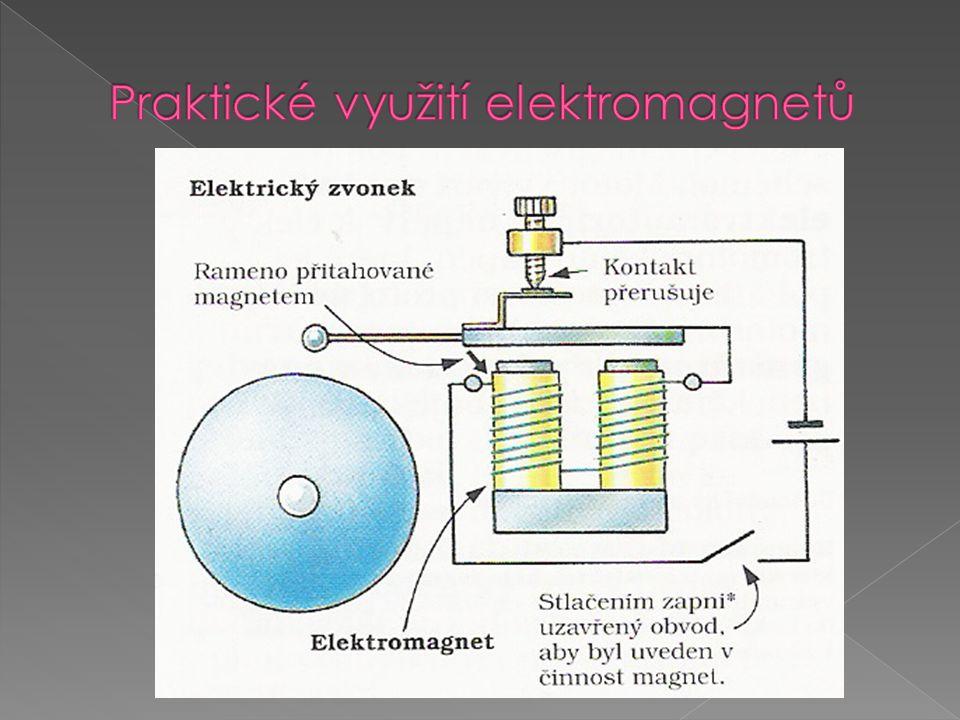 Praktické využití elektromagnetů