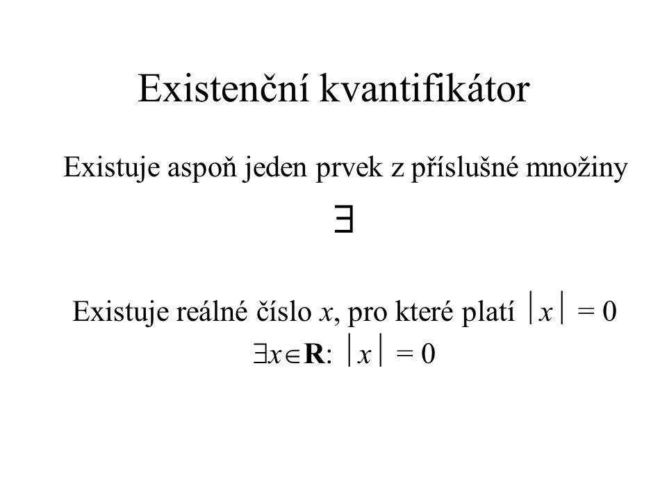 Existenční kvantifikátor