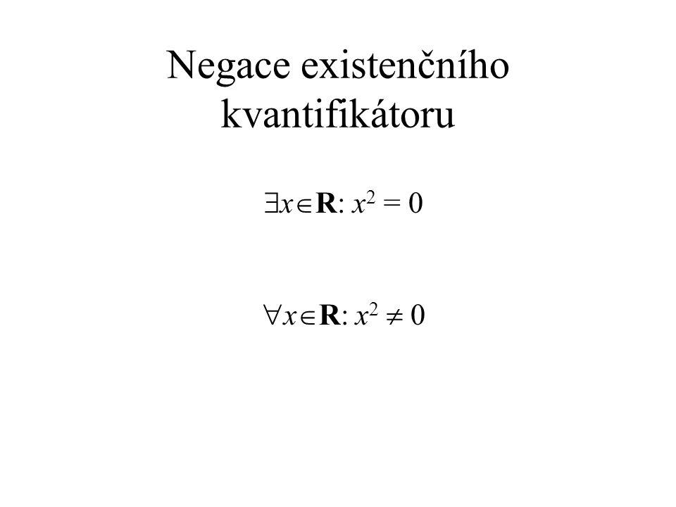 Negace existenčního kvantifikátoru