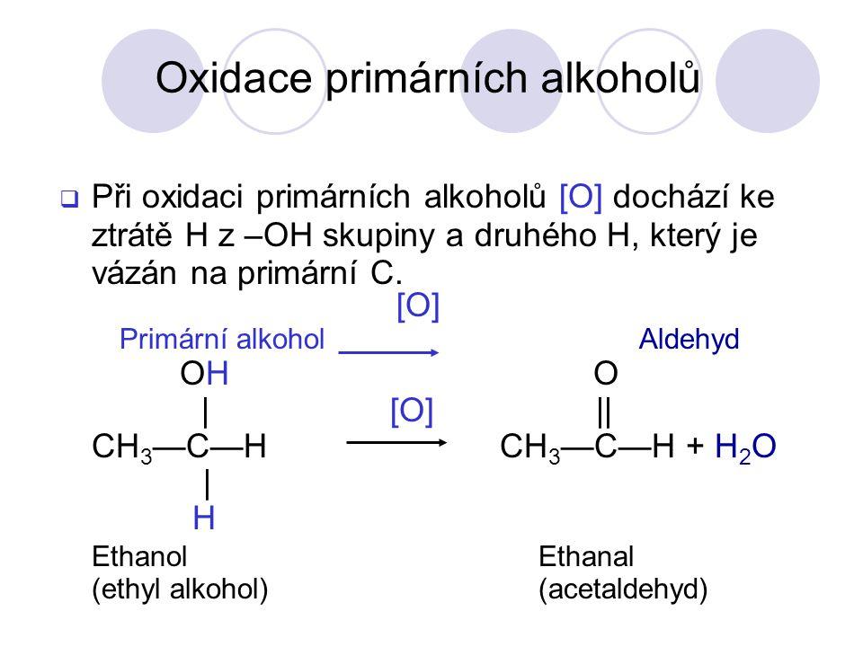 Oxidace primárních alkoholů