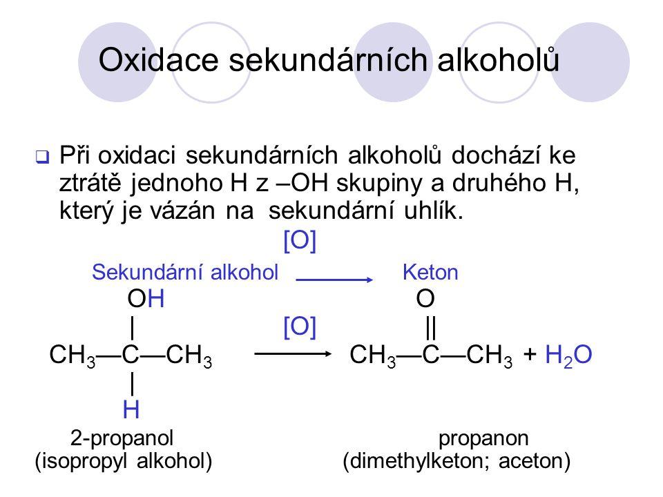 Oxidace sekundárních alkoholů