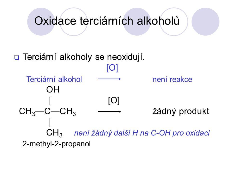Oxidace terciárních alkoholů