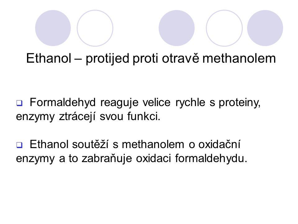Ethanol – protijed proti otravě methanolem
