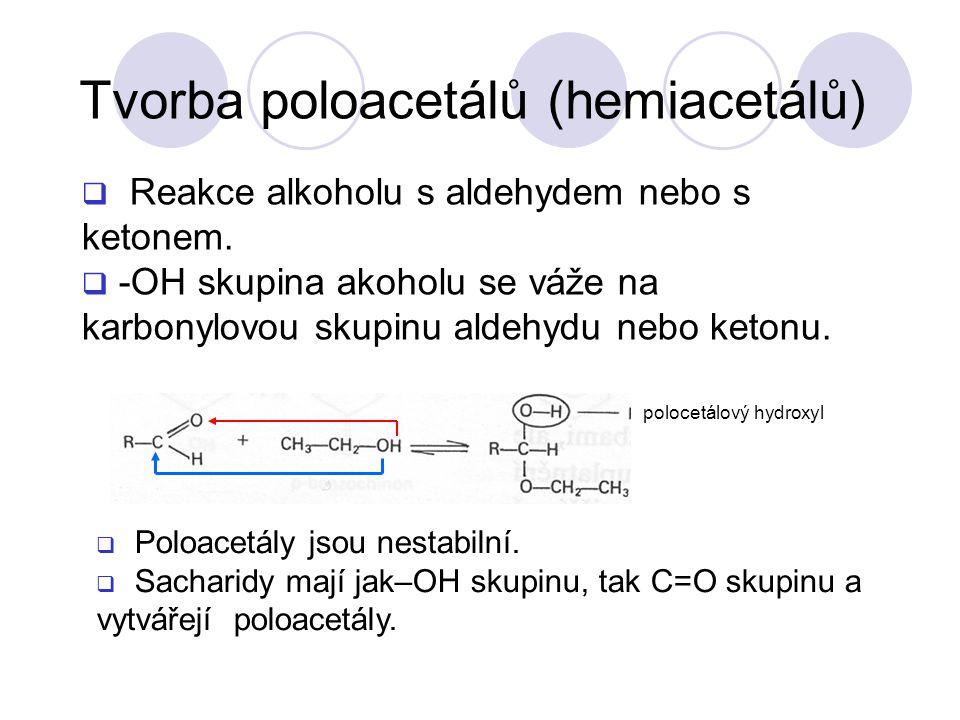 Tvorba poloacetálů (hemiacetálů)