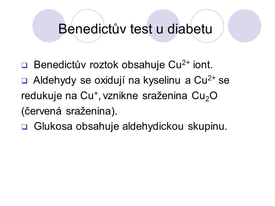 Benedictův test u diabetu